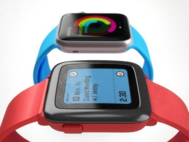Сравнение Apple Watch и Pebble Time: дизайн