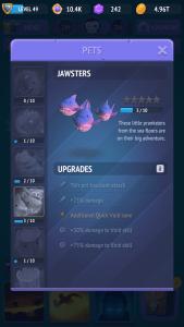 Jawsters - Nonstop Knight: питомцы и их умения