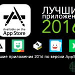 10 лучших приложений 2016 по версии Appstore