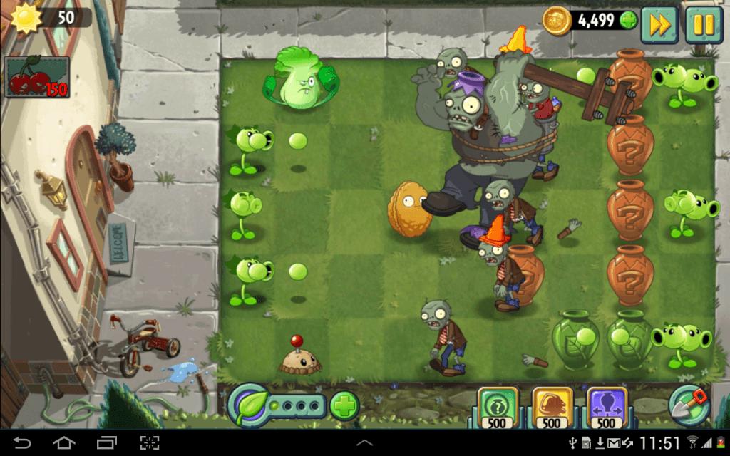 Как играть в Plants vs. Zombies 2