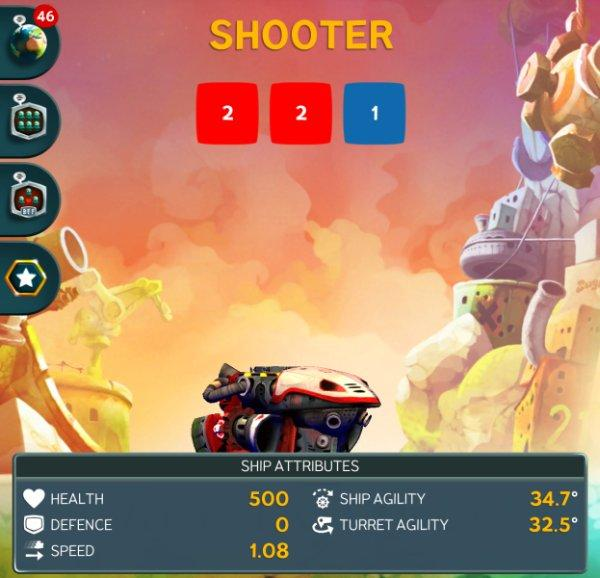 Корабль Shooter в Battle Bay