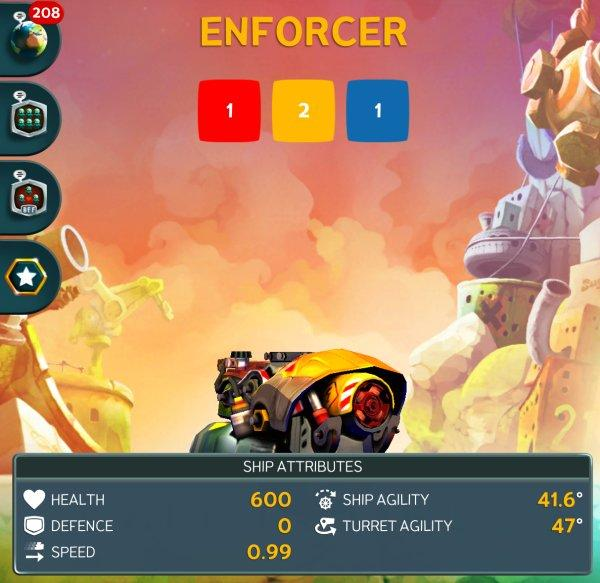 Корабль Enforcer в Battle Bay