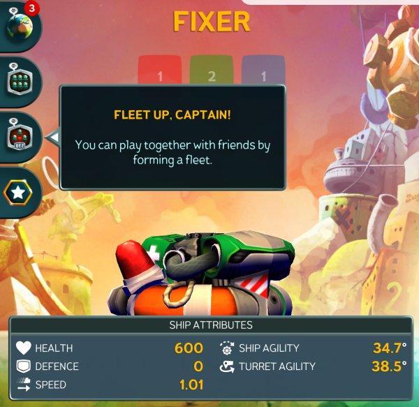 Корабль Fixer в Battle Bay