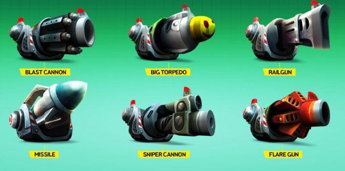 Battle Bay: как выбрать оружие? Снайперка, ракеты, торпеды, огнемет?