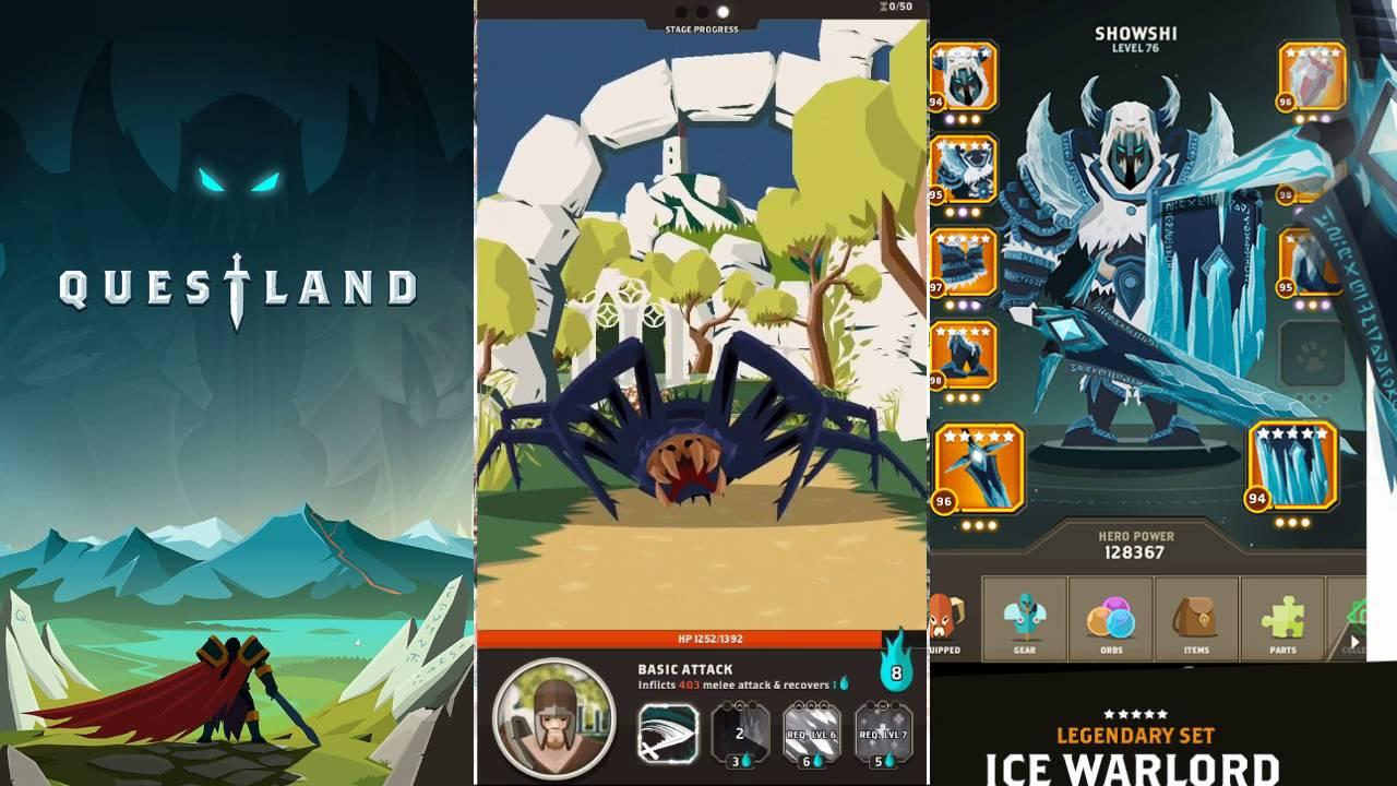 Questland: красивая пошаговая РПГ с плоским дизайном
