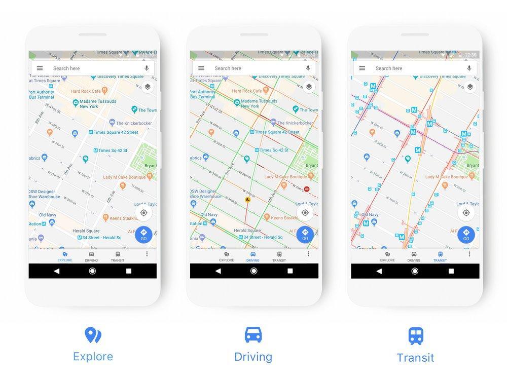 Google выпустил обновление Maps с улучшенной цветовой схемой