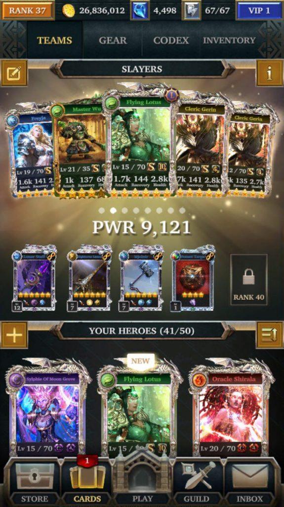Legendary Game of Heroes — что делать в событиях для Slayers