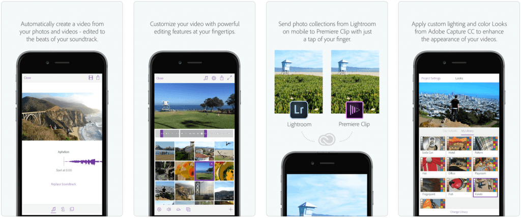 Adobe Premiere Clip - приложения для обработки видео на айфон