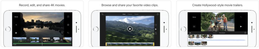 iMovie - стандартно iOS приложение для обработки видео