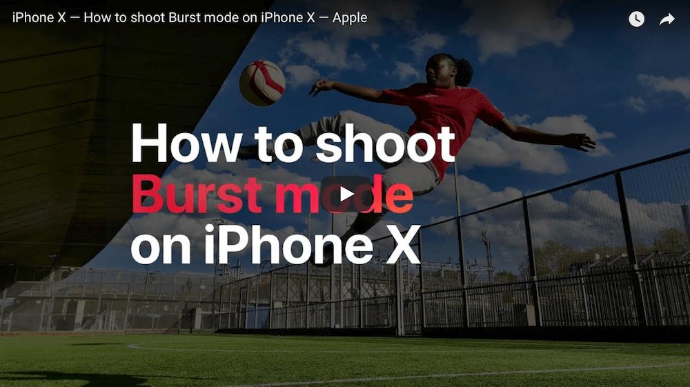 Серийная съемка на iPhone, рассказывает Apple