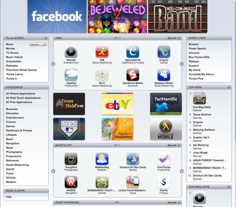 10 самых скачиваемых приложений в App Store 10 лет назад