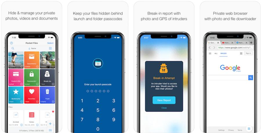 Добавить и защитить файлы в Pocket Files