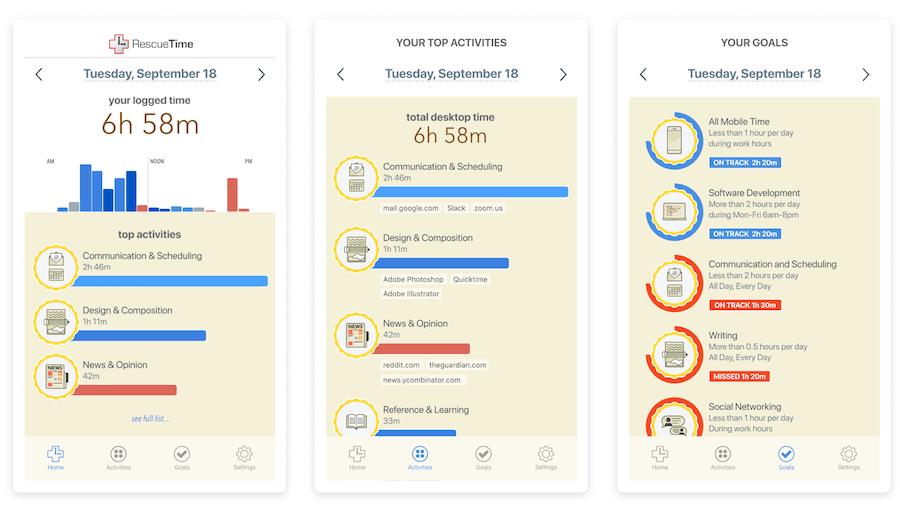 RescueTime —следит за тем, чем ты занят на iPhone