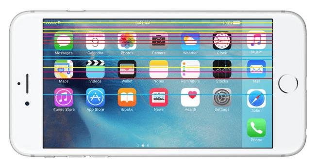 Как исправить полосы на экране iPhone