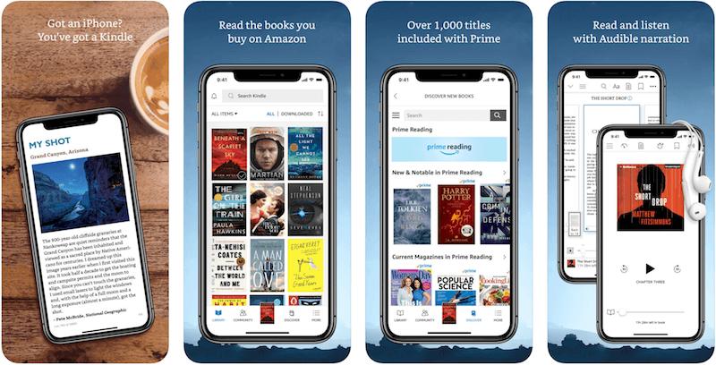 Amazon Kindle (скачать) - читалка от известного производителя электронных книг.