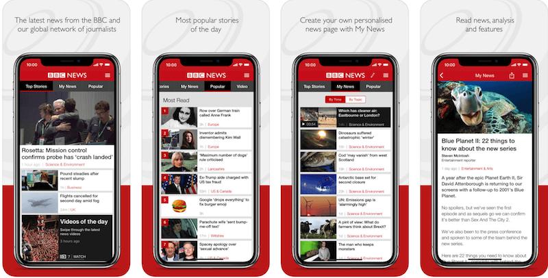 Скачать BBC News бесплатно из AppStore