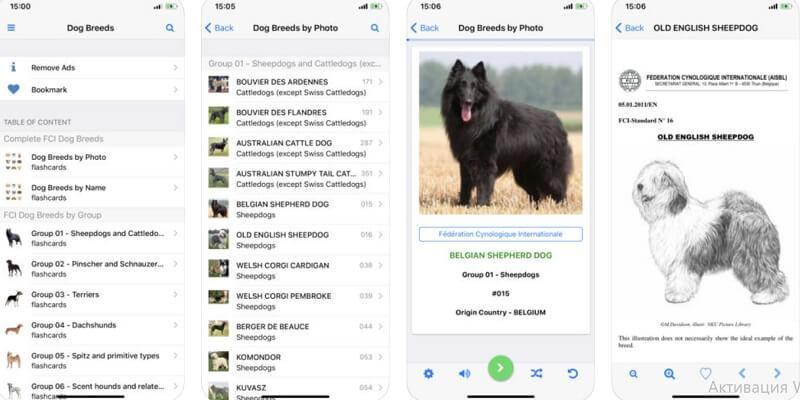 приложения о собаках, Dog Breeds Recognized by FCI