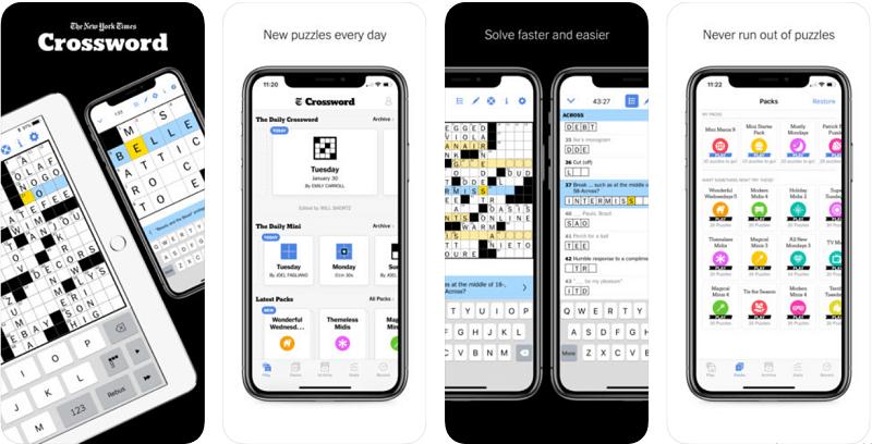 игры для изучения английского, New York Times Crossword