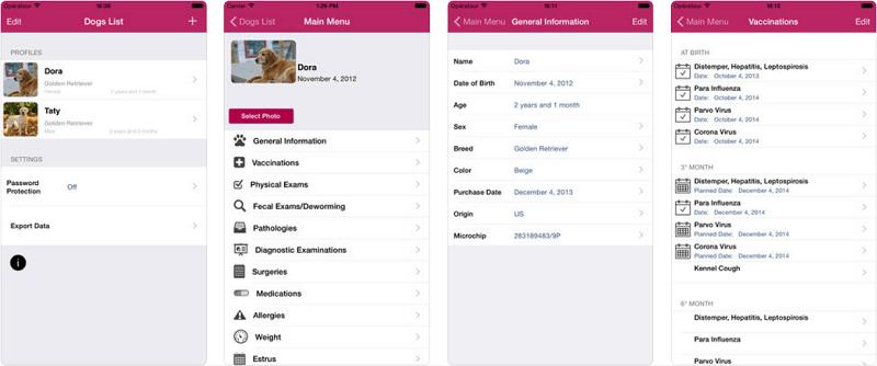 приложения о собаках, Dog Medical Agenda