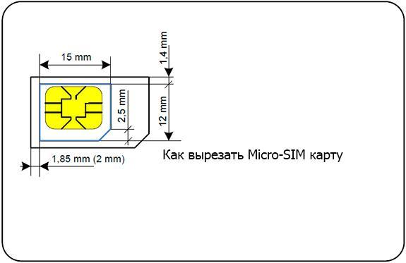 Как обрезать симкарту под Micro SIM