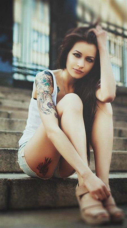 обои девушки, татуировки