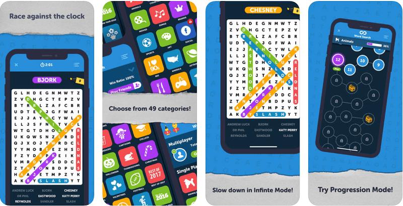игры в слова, филворды, Infinite Word Search Puzzles