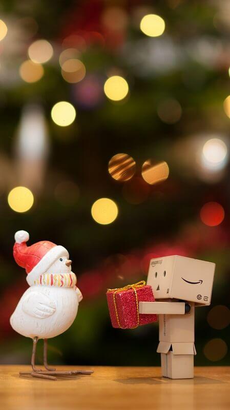 новогодние обои, обои подарок
