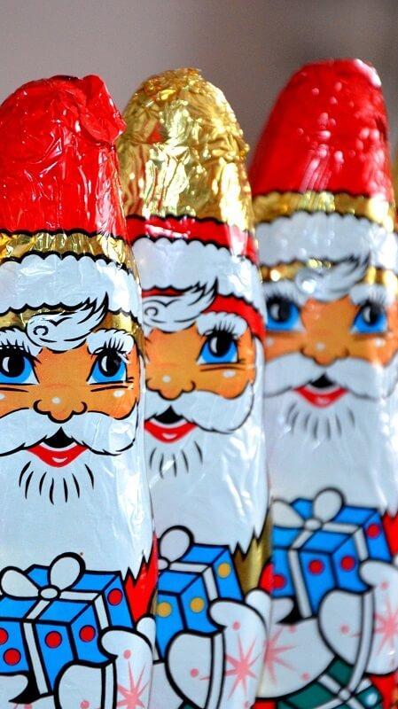 новогодние обои, обои Дед Мороз