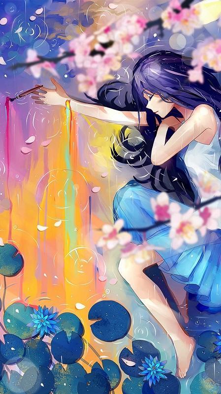 обои девушки, девушка аниме