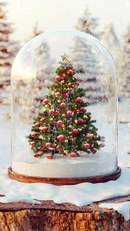 новогодние обои, обои новогодняя елка