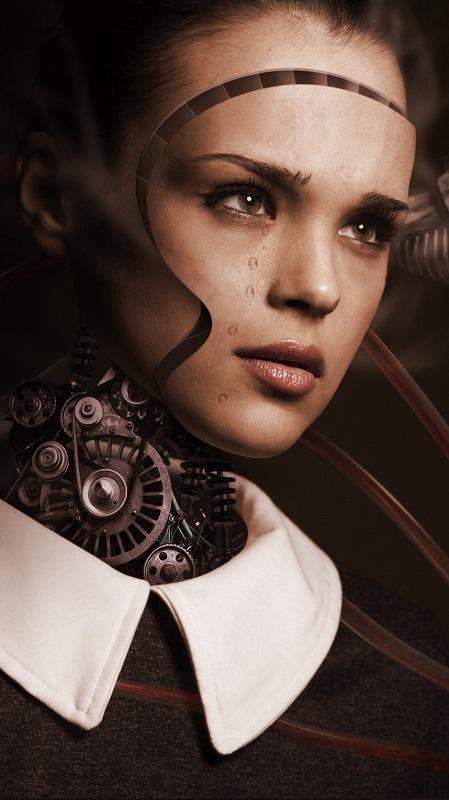 обои девушки, девушка-робот