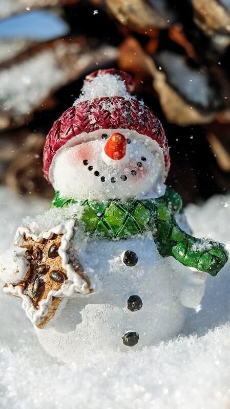 новогодние обои, обои снеговик