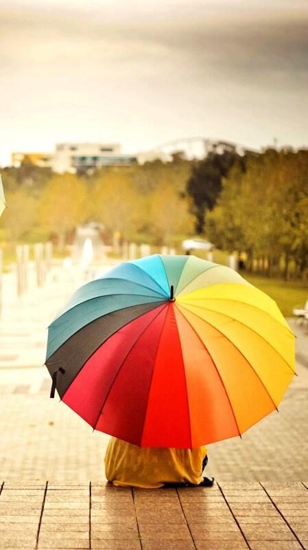 обои осень, обои зонт