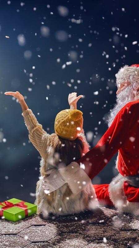 обои Дед Мороз и Снегурочка