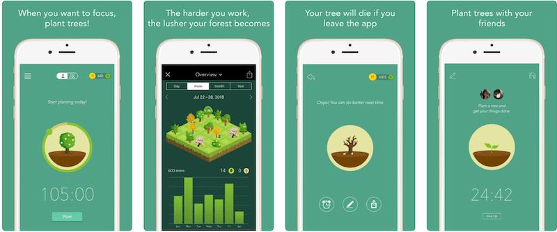 Forest - выращивай лес и становись продуктивным