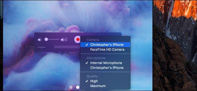 Запись экрана iPhone c компьютера Mac