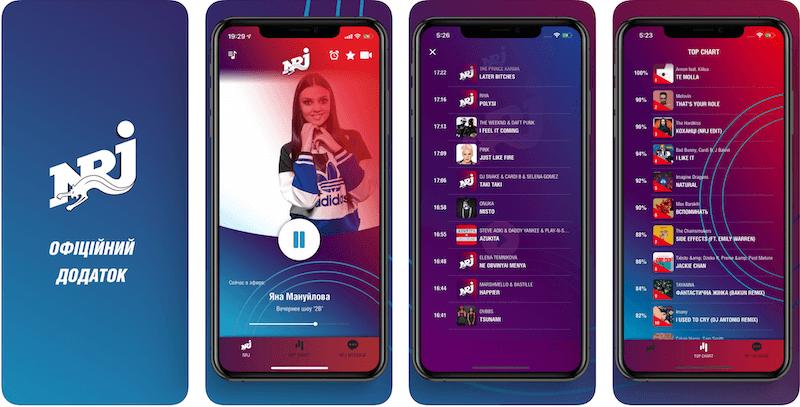 Обновленное приложение для радио NRJ Ukraine
