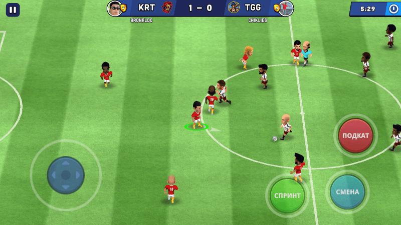 как играть в mini football