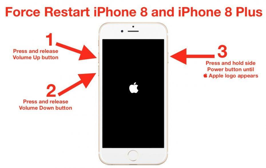 перезагрузка iPhone 8 и 8 Plus